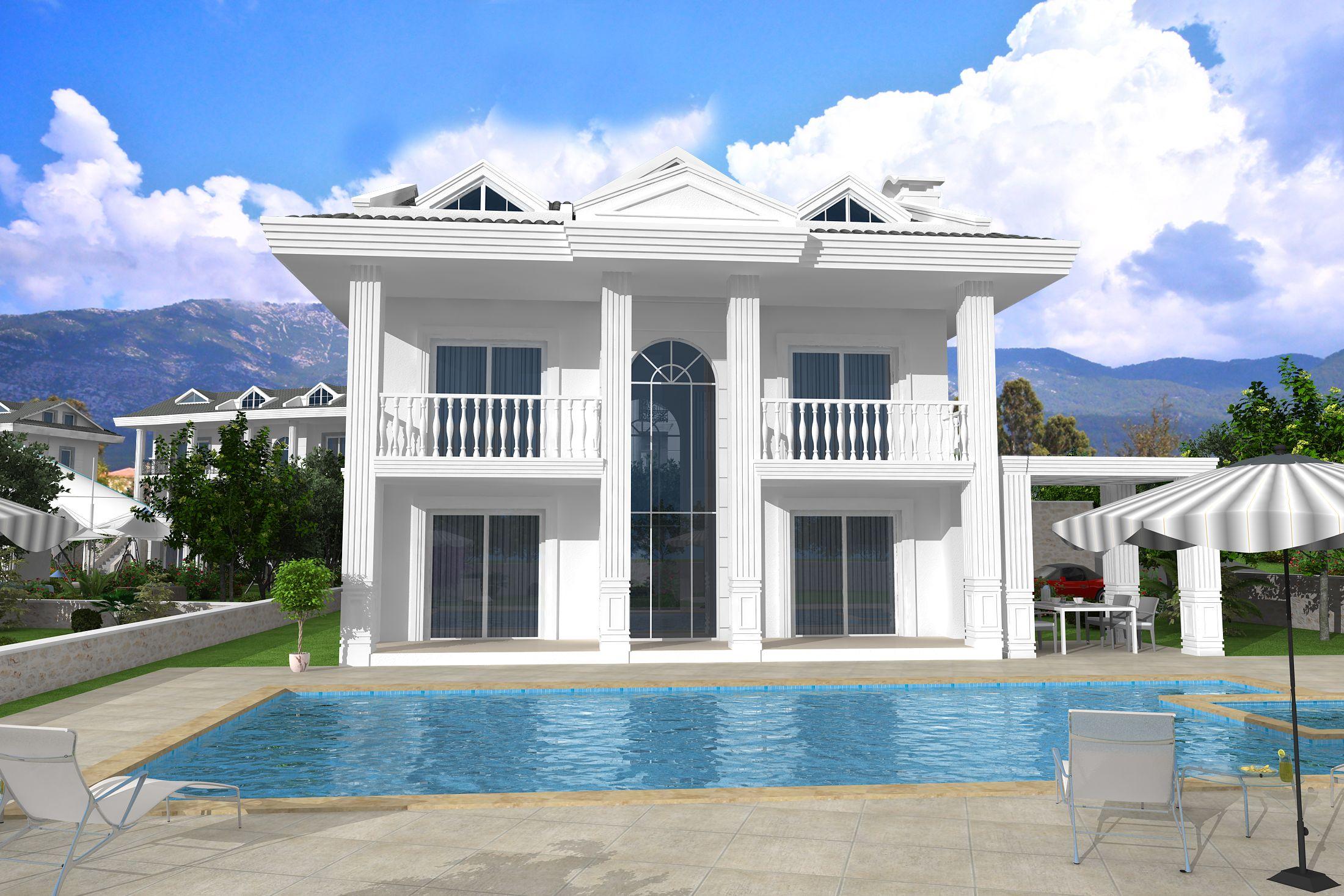 Brand New 4 Bedroom 4 Bathromm Villa In Fethiye Ovacık