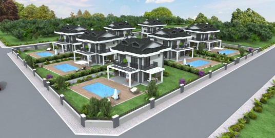 4 Bedroomed Brand New off plan Private Triplex villa -Fethiye, Ovacik